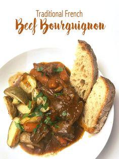 Traditional French Beef Bourguignon - Lizzy Loves Food Food Recipes For Dinner, Food Recipes Deserts Beef Bourguignon, Vegetarian Recipes, Cooking Recipes, French Food Recipes, French Desserts, Savoury Recipes, What's Cooking, Sweet Recipes, Yummy Recipes