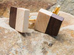 Wooden cufflinks wenge and maple from Sukceno by DaWanda.com