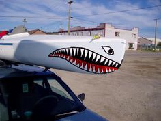 Shark Attack ( My Nose Art On MyYukon Kayak) painted by missy wood ...