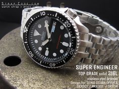 22mm Super Engineer watch band for SEIKO Diver SKX007, SKX009 and SKX011
