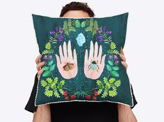 This cushion features a digital print of Megacosm on the front - an original Togetherness Design watercolour illustration inspired by the alchemy