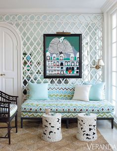 TheAugust issue of Architectural Digest, featuring a jaw dropping Lyford Cay beach house  decorated by Miles Redd, hasme craving a trip to...