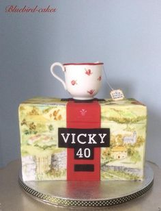 Twitter . Yorkshire Tea hand painted cake and edible tea cup by Zoe Smith Bluebirdcakes