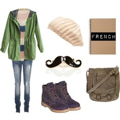 """cold school days :)"" by girlofdream1 on Polyvore"