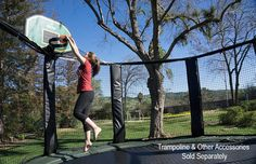 Get fit and have fun with a backyard trampoline! JumpSport® offers the best in design, materials, and bounce while offering the highest quality and safest trampoline enclosure available today.  This outdoor activity is fun for the whole family and will keep your family fit for years to come! #jumpsport