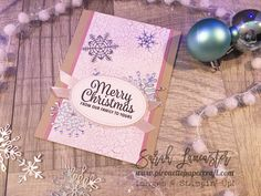 Pink, silver, craft and glitter - perfect for Christmas and quick and easy to make with Stampin' Up! products | Sarah Lancaster