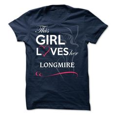 LONGMIRE - This girl love ger LONGMIRE - #gift basket #gift for teens. LIMITED TIME PRICE => https://www.sunfrog.com/Valentines/LONGMIRE--This-girl-love-ger-LONGMIRE.html?68278