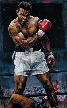 Muhammad Ali 1965 a limited edtion print by Stephen Holland