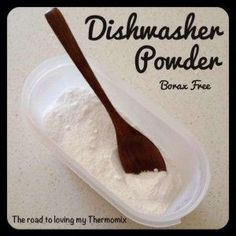The road to loving my Thermomix: Homemade Dishwasher Powder Homemade Cleaning Products, Cleaning Recipes, Natural Cleaning Products, Cleaning Tips, Homemade Washing Powder, Homemade Dishwasher Detergent, Bellini Recipe, Washing Soda, Sustainable Living