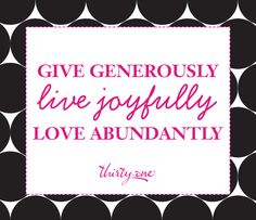 And THIS is why I love Thirty-One.  Thanks Thirty-One for walking the walk and for continuously empowering us all to give, live and love.