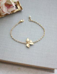 Gold Orchid Flower Swarovski Ivory Pearl Bracelet. Flower | Etsy Gold Bracelet For Girl, Flower Bracelet, Pearl Bracelet, Pearl Jewelry, Gold Jewelry, Jewelry Accessories, Irish Jewelry, Jewelry Box, Diamond Bracelets