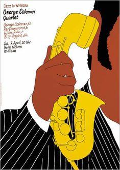 John Coltrane Quartet. Jazz Affiche