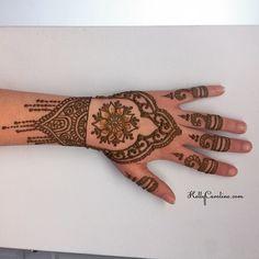 Henna design on the
