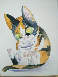 caricatura felina