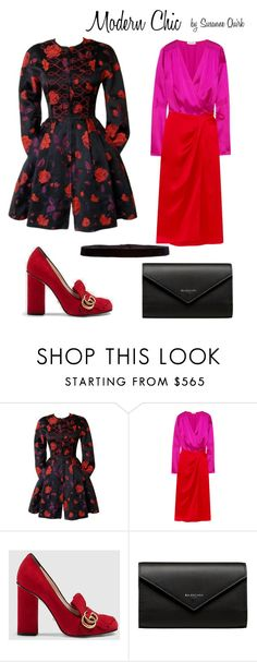 """""""Modern Chic"""" by shoppinkandrowe ❤ liked on Polyvore featuring Christian Lacroix, Attico, Gucci, Balenciaga, Steve Madden and modern"""