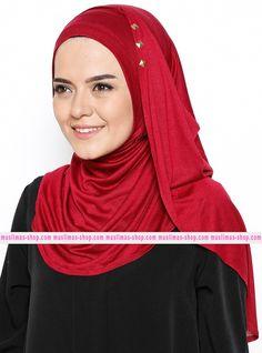 Abbigliameto Halal Islamico Negozio Online  #islamic #hijab #modest #fashion product  ready HIjab - Maroon - Mahra - Fabric Info:  100% Viscose    Weight: 0.128 kg - SKU: 230083. Buy now at http://muslimas-shop.com/ready-hijab-maroon-mahra230083.html
