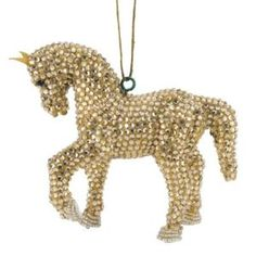 Handmade Horse Christmas Ornament Color: Gold by Wayfair