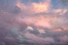 ..i like to look at clouds & get lost in them...