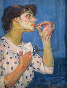 Frantisek Kupka, Le rouge à lèvres II on ArtStack Figure Painting, Painting & Drawing, Frantisek Kupka, Modern Art, Contemporary Art, Blog Art, L'art Du Portrait, Figurative Kunst, Piet Mondrian