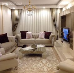 The Argument About Best Apartment Living Room Layout and Decorating Tricks - homeuntold Fancy Living Rooms, Elegant Living Room, Living Room Designs, Drawing Room Furniture, Living Room Furniture, Living Room Decor, House Rooms, Sofa Design, Apartment Living