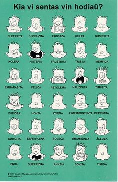 Emotions in Esperanto. Coding Languages, World Languages, Language Study, German Language, Foreign Language, Esperanto Language, Learn Finnish, Grammar And Vocabulary, Learning Resources