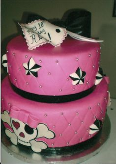 Kelley's Cake Creations - Pink Pirate cake