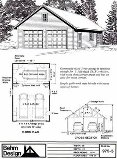 excellent 30x30 garage plans. Garage Plans  Two Car With Shop and Attic Roof Plan 975 5 30 x garage Google Search barns Pinterest 30th