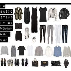 """30 Basic Items Every Woman Must Own"" by designismymuse on Polyvore"