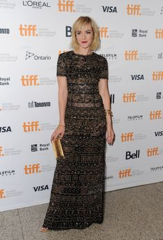 Jena Malone looked like a screen siren in this studded Emilio Pucci gown at TIFF.