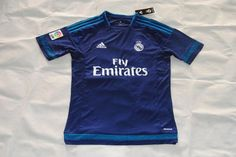 2015/16 Real Madrid Away Blue soccer jerseys are available on Soccer777.net ($16.99 each)