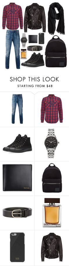 """STYLE SUNDAY// CHECK AND LEATHER (MENSWEAR)"" by itsfeeslife on Polyvore featuring Levi's, Superdry, Converse, Citizen, Paul Smith, PS Paul Smith, Dsquared2, Dolce&Gabbana, Native Union and AllSaints"