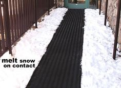 The Industrial Ice Melting Walkway Mat Can Be Used