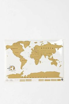 Scratch Off World Map - Urban Outfitters $34.00