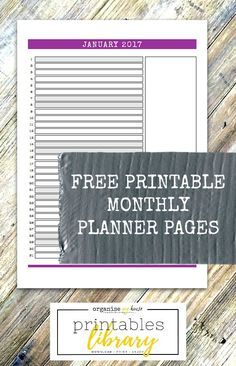 FREE DOWNLOAD - Printable monthly planner for 2017 - 12 pages of printables to keep each month in 2017 on track. Use in your diary or on the wall to stay organised.