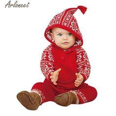 d8ed531aa ARLONEET Rompers Newborn Baby Girls Boy Christmas Hooded Romper Baby  Clothing Christmas Rompers P30 Nov30 Kids