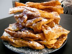 "Hvorost – Deep Fried Pastries  The literal translation of ""hvorost"" is brushwood, due to the crunch they produce similar to dry wood."