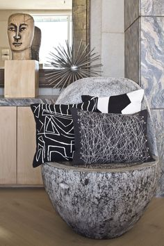 KELLY WEARSTLER | ZEPHYR BEDDING. Decorative Pillows. MUST HAVE BLACK AND WHITE ACCESSORIES. CHERIE