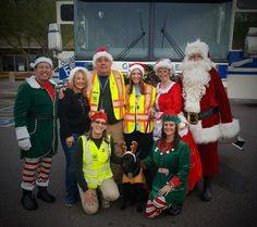Toy drive and rides with Santa on the fire engine.