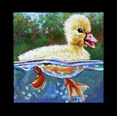 Painting - Birdman Of Alcatraz Detail by John Lautermilch , Pond Painting, Lily Painting, Painting Prints, Buy Paintings, Animal Paintings, Detailed Paintings, Buy Birds, First Art, Beautiful Paintings