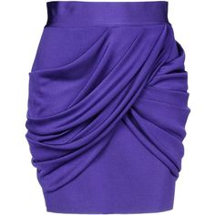 Balmain Mini Skirt ($690) ❤ liked on Polyvore featuring skirts, mini skirts, bottoms, balmain, saias, purple, short skirts, short mini skirts, draped skirt and mini skirt