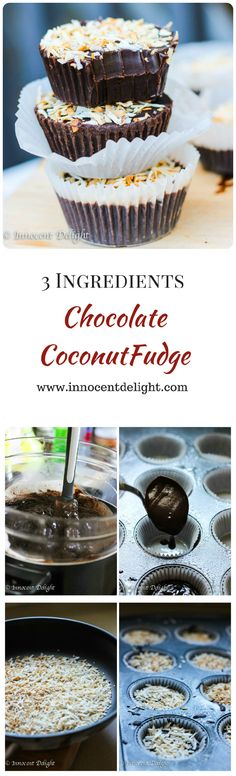 3 Ingredients Chocolate Coconut Fudge