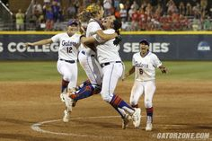Behind a solid performance from senior Lauren Haeger in the circle, and clutch hits from the Gators offense, the University of Florida softball team won Game 3 of the Women's College World Series Championship Series over Michigan, 4-1, on Monday in front of a sell-out crowd at ASA Hall of Fame Stadium.