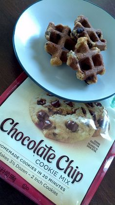 """Waffle cookies by LisaBird+8, via Flickr.  I found they worked better if I """"baked"""" them in the waffle iron for 3 minutes, instead of the 90 seconds listed on most recipes here."""