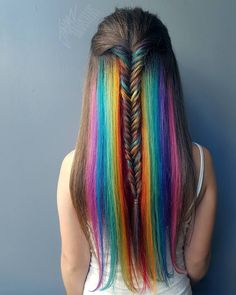 Hidden Rainbow Hair Is the Trend You Never Knew You Always Wanted | Brit + Co