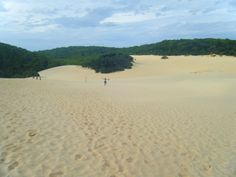 Would you believe there is an entire lake over the hill? Fraser Island, Australia