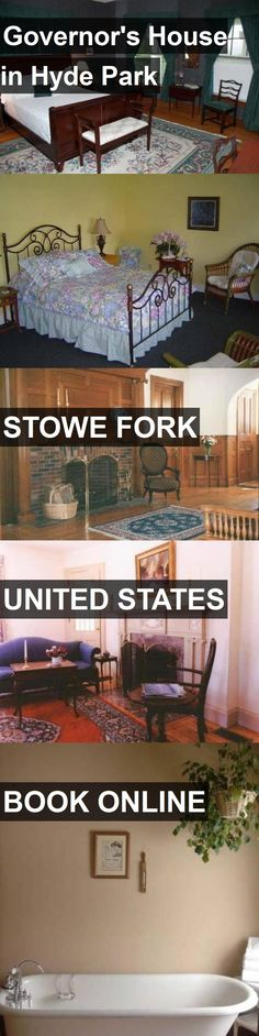 Hotel Governor's House in Hyde Park in Stowe Fork, United States. For more information, photos, reviews and best prices please follow the link. #UnitedStates #StoweFork #travel #vacation #hotel
