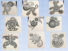 zentangle animals with some ideas on how it was taught
