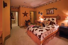 A cute bedroom for the western fanatic you know! The Hillandale model in San Antonio, Texas!