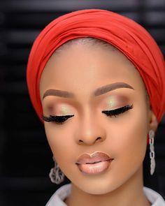 African Hats, African Women, African Beauty, Beauty Makeup, Eye Makeup, Wedding Makeover, Elegant Makeup, Natural Makeup Looks, Black Women Art