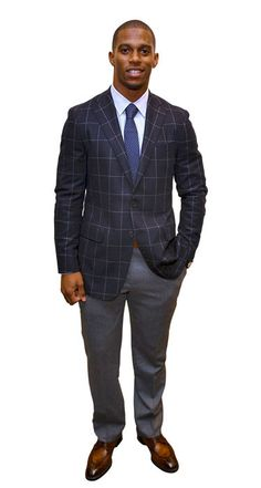 Number one, not only because he took his Super Bowl victory lap through New York Fashion Week. But because he did it in tailored suits with bold details, like windowpane checks and patterned ties, by established American designers like Tommy Hilfiger and Calvin Klein.